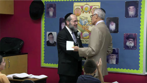 Jewish Educator Awards Rabbi Chaim Trainer Wins 2016 Jewish Educator Award Los Angeles CA September 27, 2016